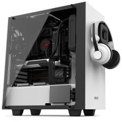 NZXT S340 Elite Mid Tower PC Gaming Case - No PSU (Matte White)