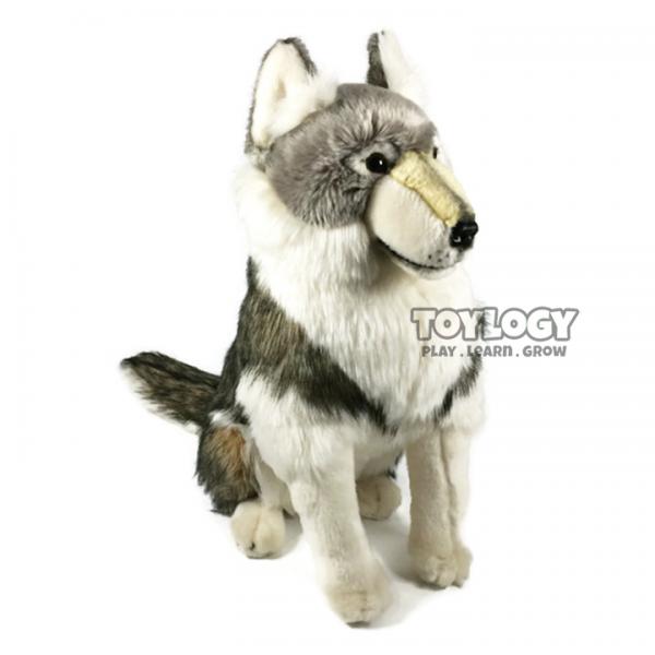 Boneka Anjing Husky Alaskan Malamute Stuffed Plush Animal Doll